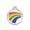 Rainbow Dog ID Tag, , ID Tag, Small Dog Mall, Small Dog Mall - Good things for little dogs.  - 1