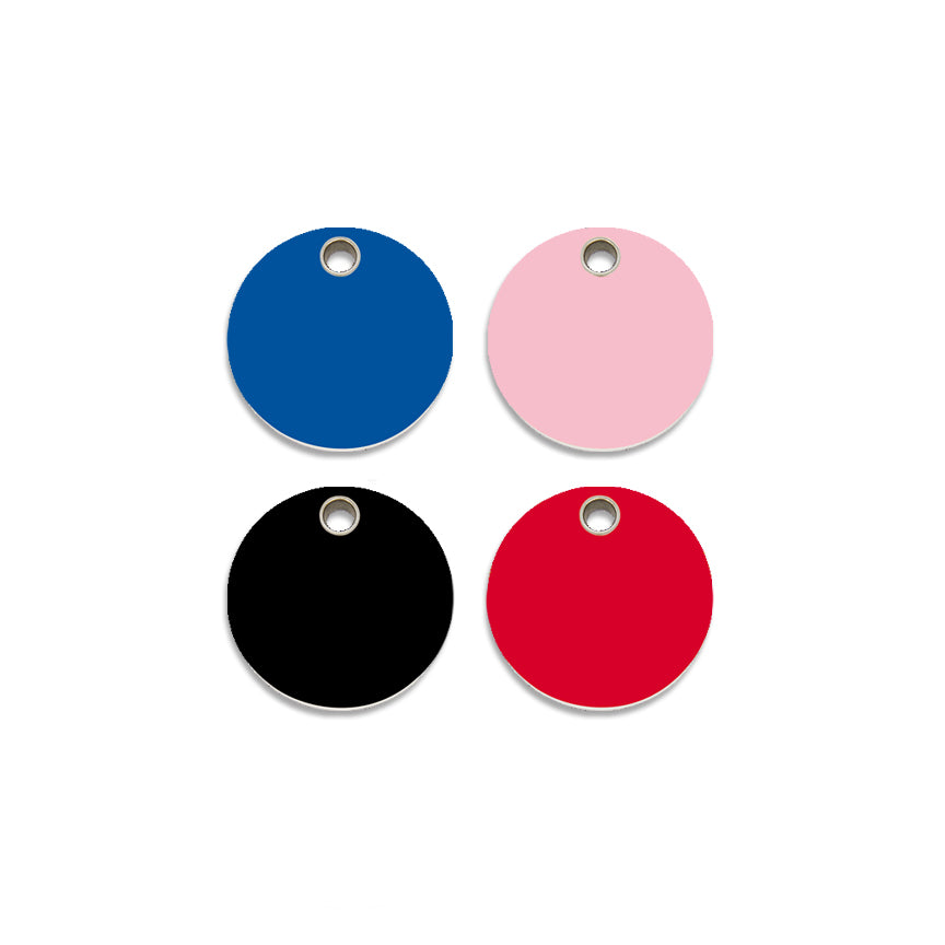 Red Dingo Plastic Round Small Dog Pet ID Tag