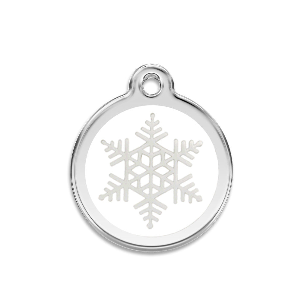 Snow Flake Dog ID Tag, , ID Tag, Small Dog Mall, Small Dog Mall - Good things for little dogs.  - 1