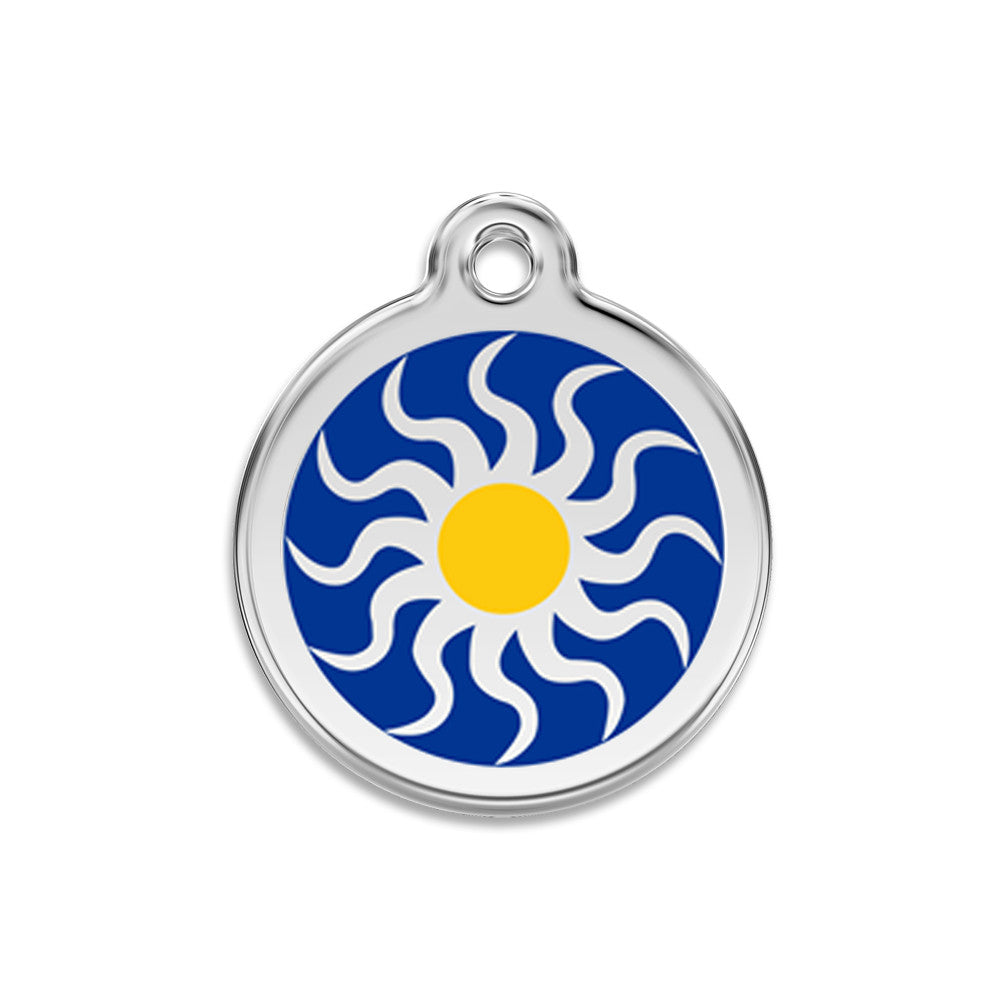 Tribal Sun Dog ID Tag, , ID Tag, Small Dog Mall, Small Dog Mall - Good things for little dogs.  - 1