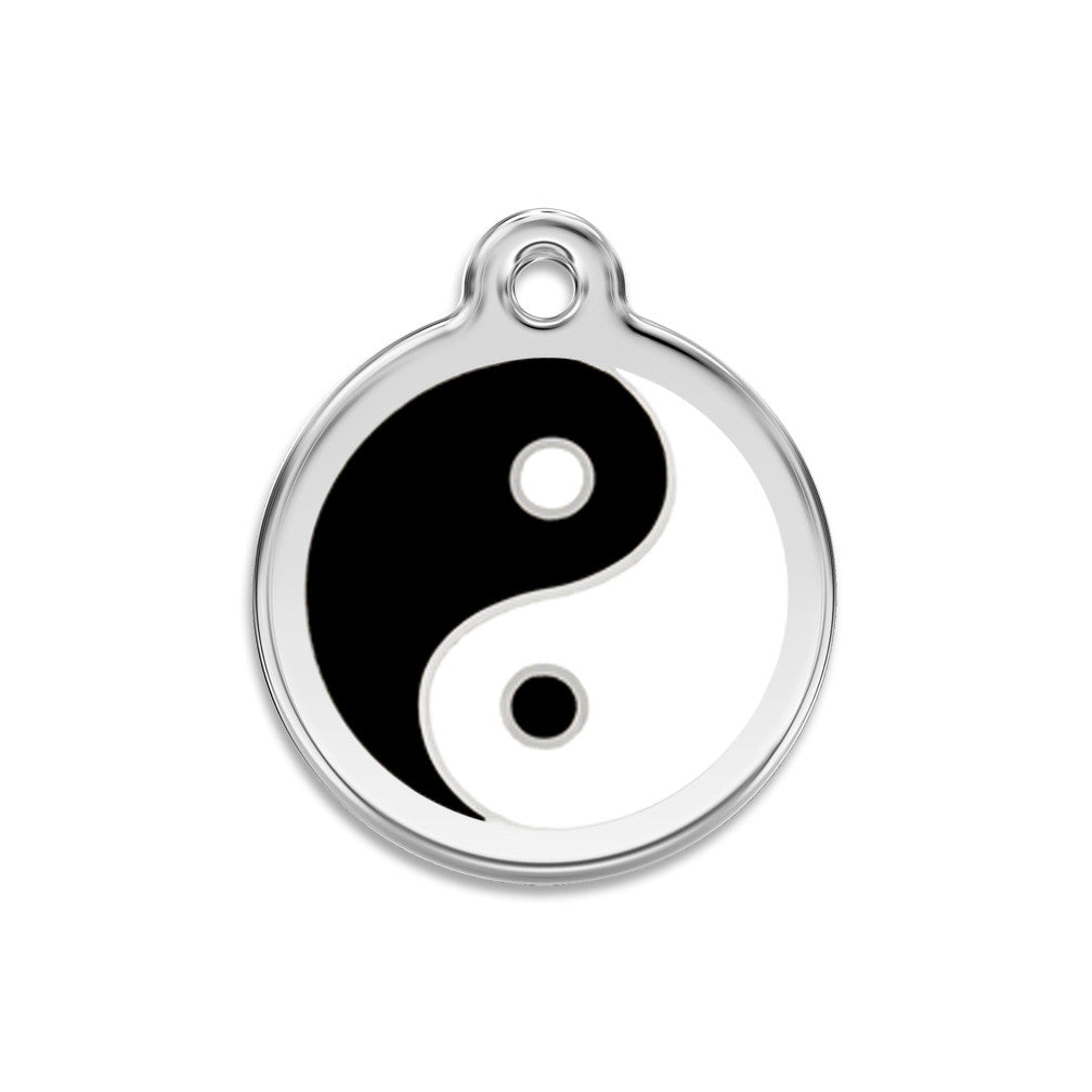 Yin Yang Dog ID Tag, , ID Tag, Small Dog Mall, Small Dog Mall - Good things for little dogs.  - 1