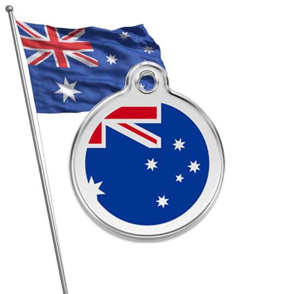 Australian Flag Small Dog ID Tag, ID Tag, Small Dog Mall, Small Dog Mall - Good things for little dogs.  - 1