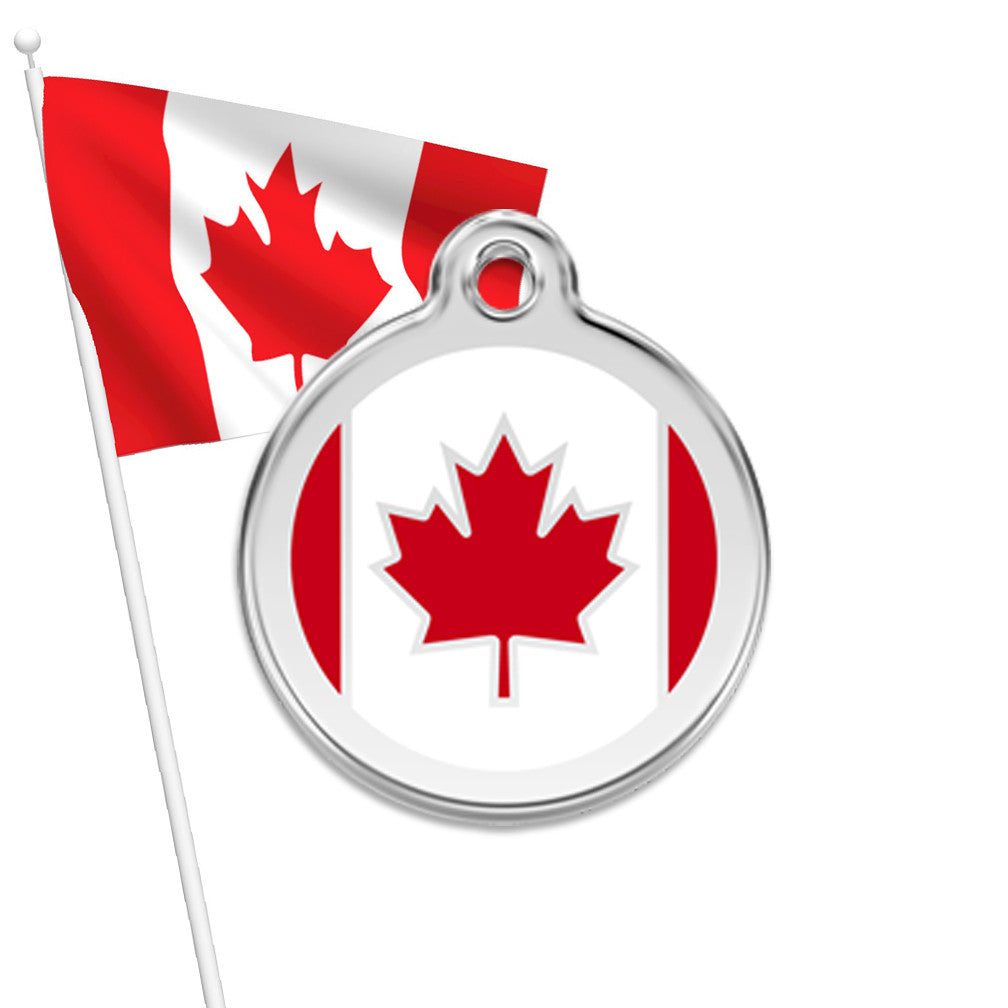 Canada ID Tag, Eh?, , ID Tag, Small Dog Mall, Small Dog Mall - Good things for little dogs.  - 1