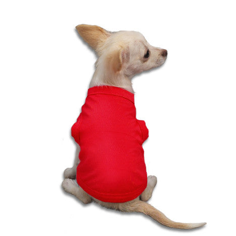 Red Tank Style Dog T-Shirt, , Tee, Small Dog Mall, Small Dog Mall - Good things for little dogs.  - 1