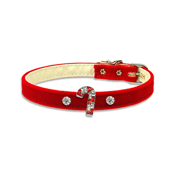 Candy Cane Dog Collar, , Christmas, Small Dog Mall, Small Dog Mall - Good things for little dogs.  - 1