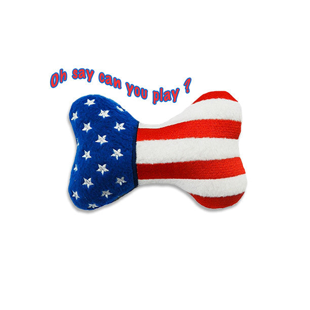 Mr. America Bone Dog Toy, , Toy, Small Dog Mall, Small Dog Mall - Good things for little dogs.  - 1