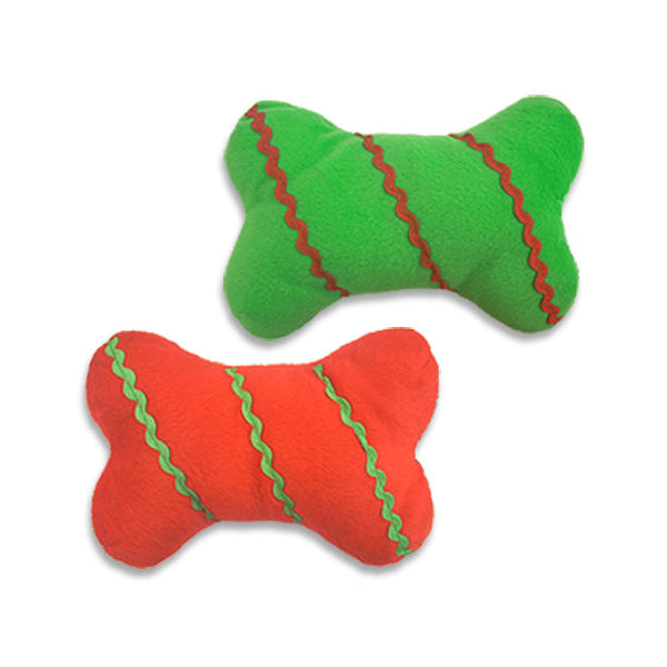 Ric Rac Bone Dog Toy, Christmas, Small Dog Mall, Small Dog Mall - Good things for little dogs.  - 1