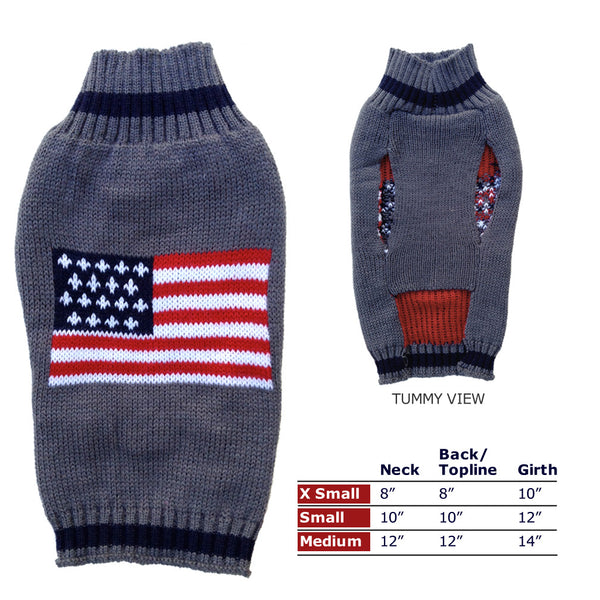 Flag Designer Dog Sweater, Sweaters, Small Dog Mall, Small Dog Mall - Good things for little dogs.