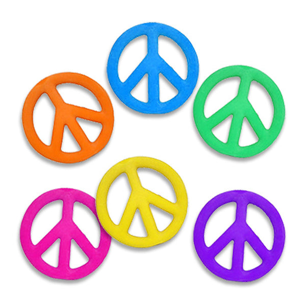 Latex Peace Sign Dog Toy, Christmas, Small Dog Mall, Small Dog Mall - Good things for little dogs.  - 1