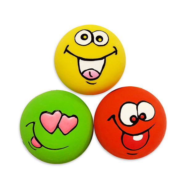 Fun Latex Emoji Trio Small Dog Toy