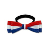 Red, White & Blue Dog Bowtie Collar, , Collar, Small Dog Mall, Small Dog Mall - Good things for little dogs.  - 1
