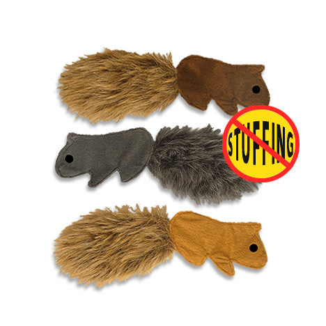No Stuffing Flat Squirrel Small Dog Toy, Toy, Small Dog Mall, Small Dog Mall - Good things for little dogs.  - 1