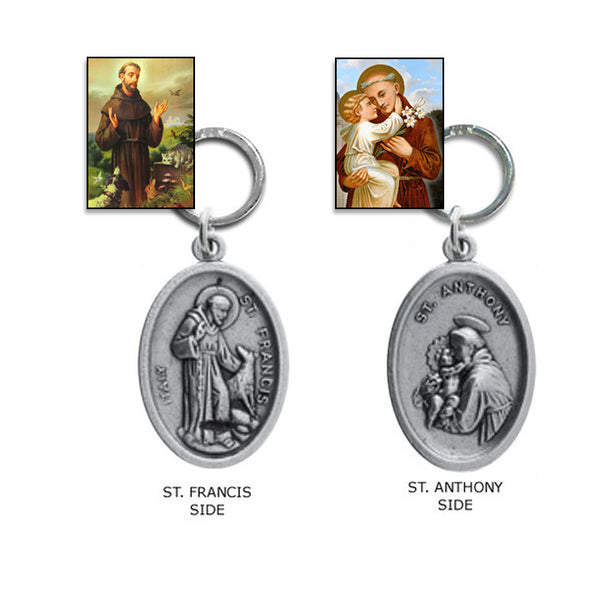 St. Francis / St Anthony Medallion Collar Charm for Small Dogs