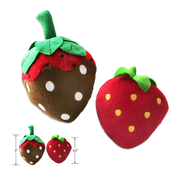 Strawberry Dog Toy, Dipped or Not, Small Dog Mall