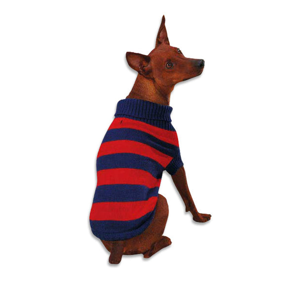 Rugby Dog Sweater, Sweaters, Small Dog Mall, Small Dog Mall - Good things for little dogs.  - 1