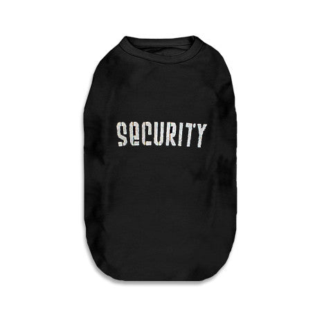 Security Tank Style Dog T-Shirt, , Tee, Small Dog Mall, Small Dog Mall - Good things for little dogs.  - 1