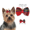 Tartan Bow for Dogs, , Hair Accessory, Small Dog Mall, Small Dog Mall - Good things for little dogs.  - 2