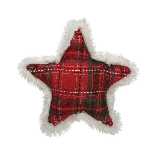Tartan Star Dog Toy, , Christmas, Small Dog Mall, Small Dog Mall - Good things for little dogs.  - 1