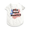 Dog Bless America Designer Dog T-Shirt, , Tee, Small Dog Mall, Small Dog Mall - Good things for little dogs.  - 1