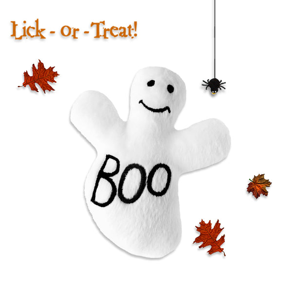 Extra Small Friendly Little Plush Ghost Small Dog Toy --- BOO!