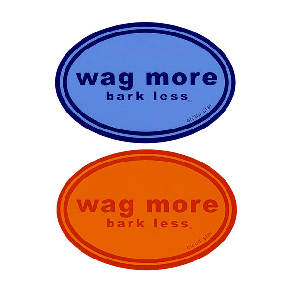Wag More, Bark Less! Bumper Sticker, , People Pleasers, Small Dog Mall, Small Dog Mall - Good things for little dogs.  - 1