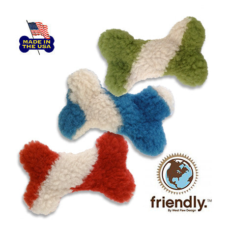 Mini Bones with Stripes Dog Toy, , Toy, Small Dog Mall, Small Dog Mall - Good things for little dogs.  - 1