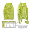 Acid Green Waffle Weave Dog Sweater, , Sweaters, Small Dog Mall, Small Dog Mall - Good things for little dogs.  - 2