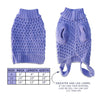 Purple Waffle Weave Dog Sweater, , Sweaters, Small Dog Mall, Small Dog Mall - Good things for little dogs.  - 2