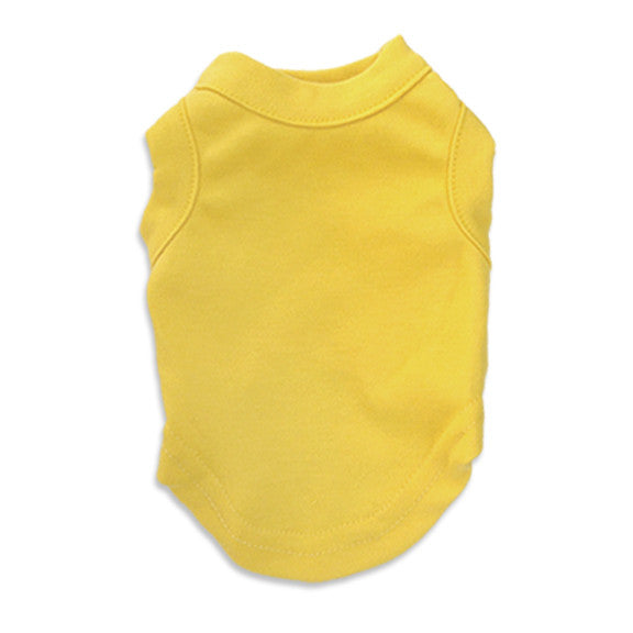 Sunny Yellow Tank Style Dog T-Shirt, , Tee, Small Dog Mall, Small Dog Mall - Good things for little dogs.  - 1