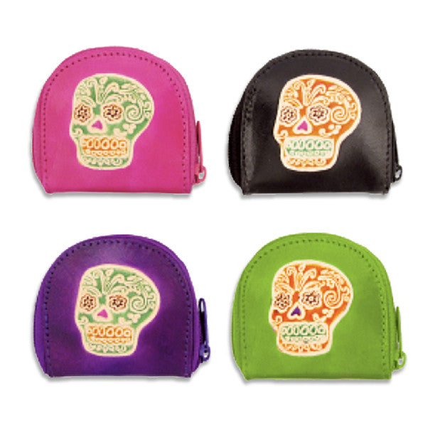 Sugar Skull Coin Purse, , People Pleasers, Small Dog Mall, Small Dog Mall - Good things for little dogs.  - 1