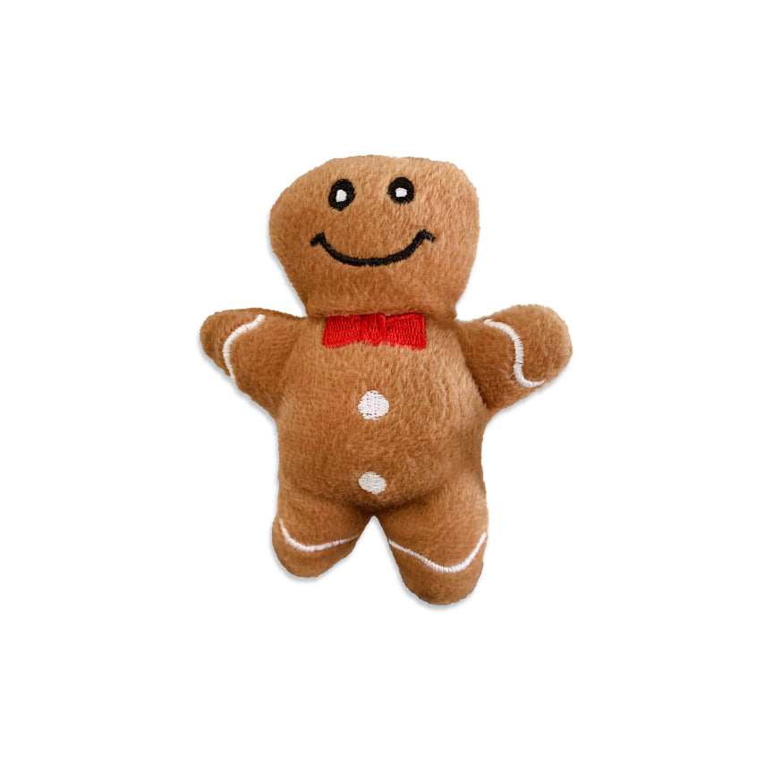 Zippy Paws Gingerbread Boy Small Dog Toy