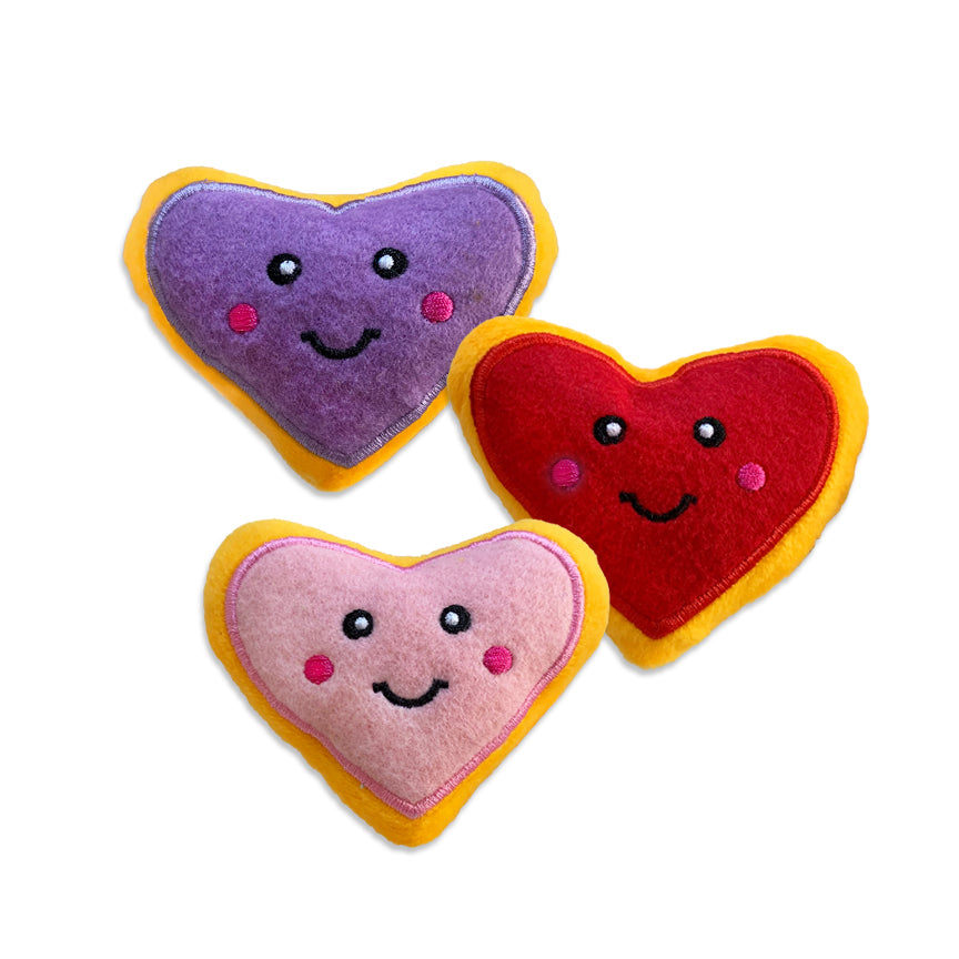 Zippy Paws Heart Cookie Small Dog Toy