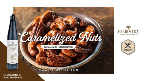 CARAMELISED NUTS FOR HEALTHIER YOU.