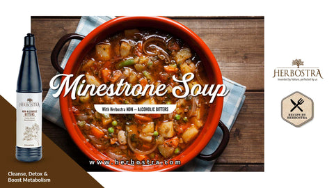 WINTER WARMER SOUP RECIPE WITH HERBOSTRA BITTERS.