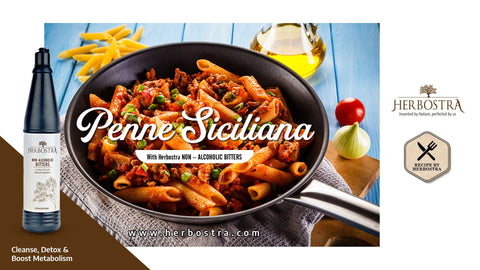 CHARM UP YOUR LUNCH WITH DELICIOUS PENNE SICILIANA PASTA.