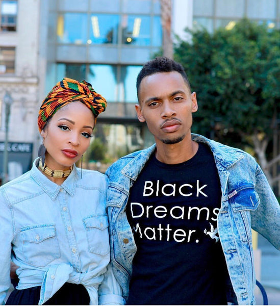 Black Dreams Matter (black and white) his or hers