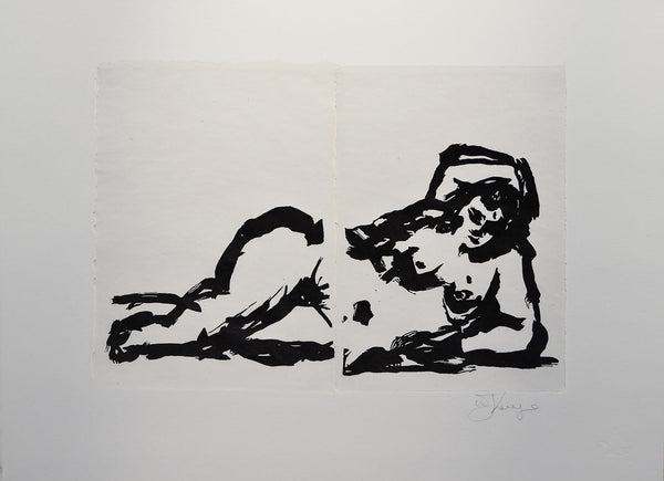 William Kentridge, Rebus Odalisque Nude, 2014 -