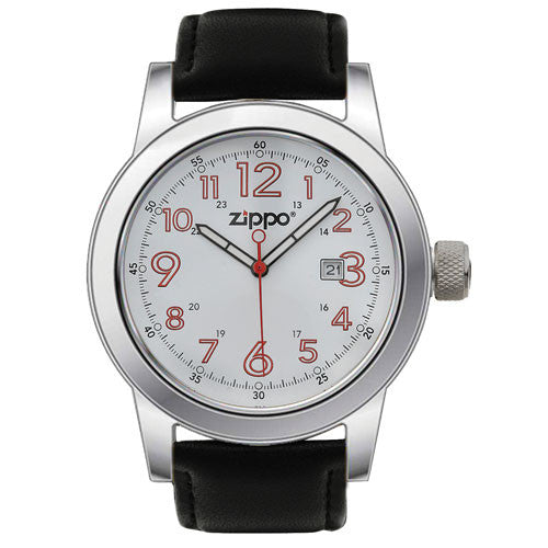 Zippo Casual Watch Polished Chrome Buckle