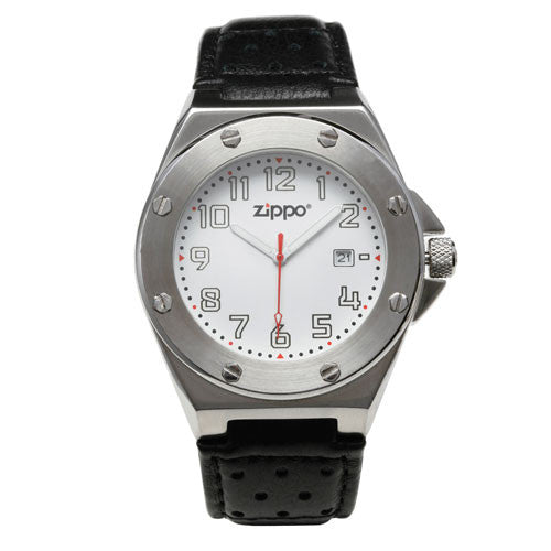 Zippo Casual Watch Brushed Chrome Buckle