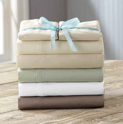 Egyptian Cotton Bed Sheet (4pc) Set - 1200 Thread Count (Solid)