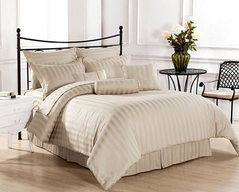 1500 Thread Count Luxurious Bed in a Bag Set Stripe - 9 Piece & Multiple Colors