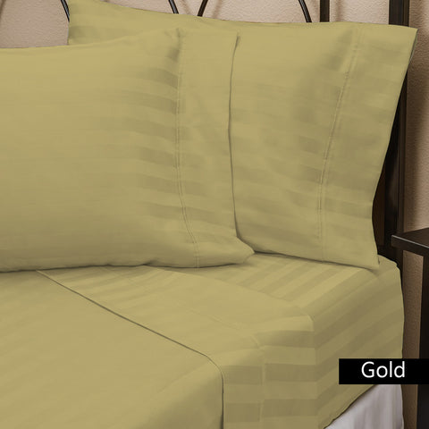 1200 Thread Count Attached Waterbed Sheet Set Stripe