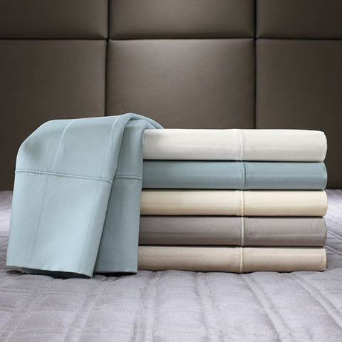 1000 Thread Count Attached Waterbed Sheet - Single Piece & Solid/Stripe