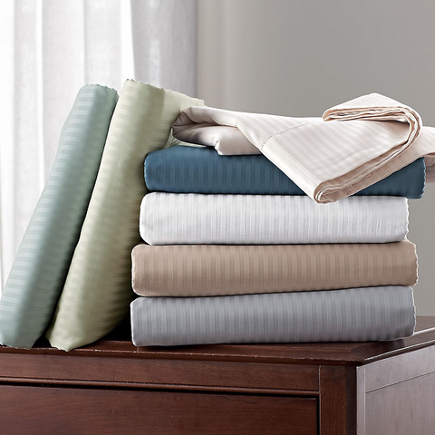 1200 Thread Count Egyptian Cotton Sheet Stripe - Single Piece & Multiple Colors