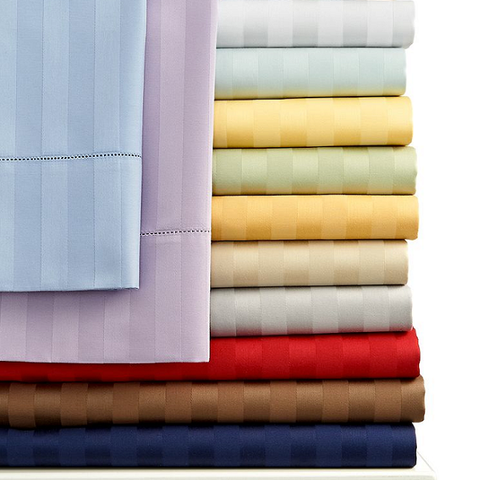 Egyptian Cotton Bed Sheet (4pc) Set - 1200 Thread Count (Stripe)