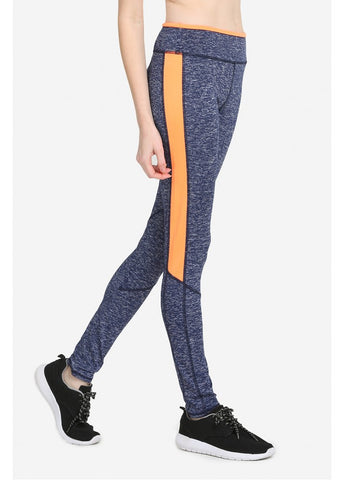 SOFRA LADIES TWO-TONE ATHLETIC LEGGINGS