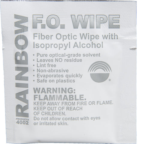 Fiber Optic Cleaning Wipe