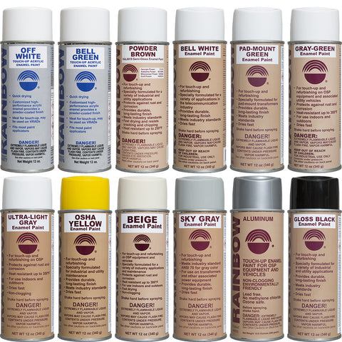 Enamel-Based Spray Paints