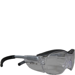 Clear Safety Glasses Angled