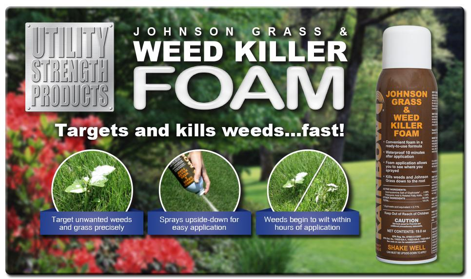 Johnson Grass and Weed Killer Foam